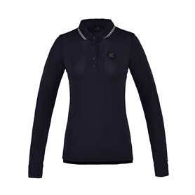 "Polo manches longues KINGSLAND ""CHAMBLY"" femme marine"