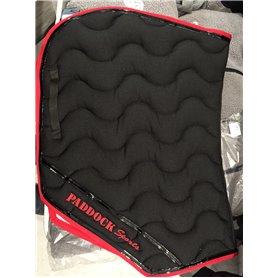 Tapis coupe Paddock sports noir avec galon rouge et vernis noir