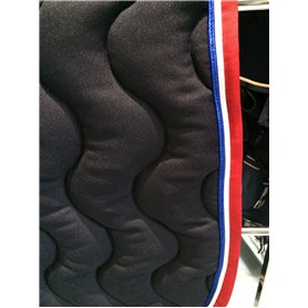 Tapis coupe marine gallon rouge passepoil blanc et bleu roi FRANCE