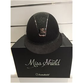 Casques MISS SHIELD NOIR top et ruban frontale en CRYSTAL FABRIC