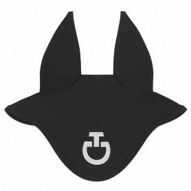 Bonnet en jersey CAVALLERIA TOSCANA noir logo blanc