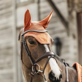 """Bonnet """"WELLINGTON VELVET"""" orange"""